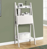 "Monarch Computer Desk - 61""H / White Ladder Style"