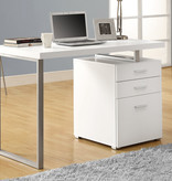 "Monarch Computer Desk - 48""L / White Left Or Right Facing"