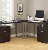 """Monarch Computer Desk - 48""""L / Cappuccino Left Or Right Facing"""