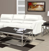 Monarch Coffee Table, Cappuccino and Chrome