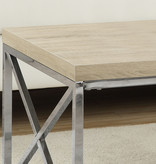 Monarch Coffee Table, Natural and Chrome