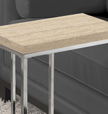 Monarch Accent Table, Natural and Chrome