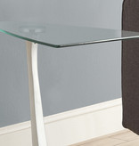 Monarch Accent Table, Black Silver and Tempered Glass