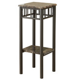 Monarch Accent Table, Cappuccino Marble and Bronze