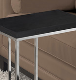 Monarch Accent Table, Cappuccino and Chrome