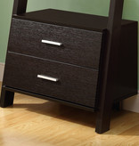 """Monarch Ladder Bookcase (69""""H) with 2 drawers, Cappuccino"""