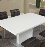 """Monarch Dining table (35""""x60""""), High glossy white"""