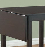 Monarch 3 pc dining set, drop leaf table, Cappuccino