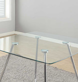 "Monarch Dining table (40""), chrome with 8mm tempered glass"