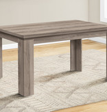 """Monarch Dining table (36""""x60""""), Dark taupe"""