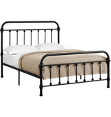 Monarch Elizabeth  Full size black metal bed