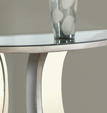 """Monarch Console table 36""""L, Brushed Silver, Miroir"""