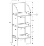 "Monarch Bookcase 42""H Black With Black Metal"