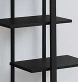 "Monarch Bookcase 60""H Black With Black Metal"