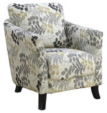 Monarch Accent Chair - Earth Tone Floral Fabric