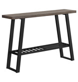 "Monarch Console table, 48 ""w, dark and black mole"