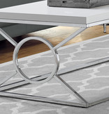 Monarch Coffee table, white gloss and chrome metal