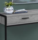 """Monarch Accent table, 48 """"w, gray and black"""