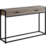 "Monarch Accent table, 48 ""w, dark taupe"