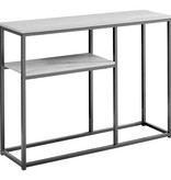 """Monarch Accent table, 42 """"w, gray and black"""