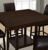 """Monarch Dining Table - 42""""X 42"""" / Cappuccino Counter Height"""