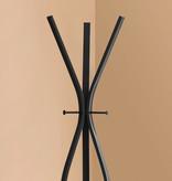 "Monarch Coat Rack - 72""H / Black Metal Contemporary Style"