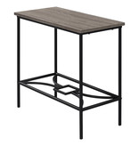 """Monarch Accent Table - 22""""H / Dark Taupe / Black Metal"""