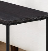 "Monarch Accent Table - 22""H / Cappuccino / Black Metal"