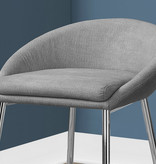 Monarch Barstool in Grey Fabric, Counter Height, Griffintown collection