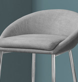Monarch Barstool in Grey Fabric, Bar Height, Griffintown collection