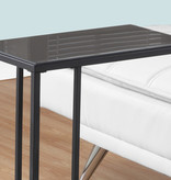 Monarch Accent Table - Black Metal / Black Tempered Glass