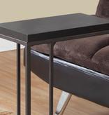 Monarch Accent Table - Cappuccino / Bronze Metal