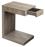 Monarch Accent Table - Dark Taupe With A Drawer