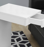 Monarch Accent Table - White With A Drawer