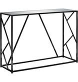 """Monarch Console Table - 44""""L / Black Nickel Metal / Mirror Top"""