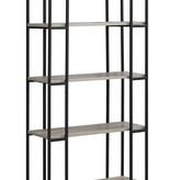 "Monarch Bookcase - 60""H / Dark Taupe / Black Metal"