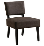 Monarch Accent Chair - Dark Brown Fabric