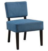 Monarch Accent Chair - Blue Fabric