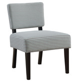 Monarch Accent Chair - Light Blue / Grey Abstract Dot Fabric