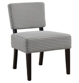 Monarch Accent Chair - Light Grey / Black Abstract Dot Fabric