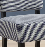 Monarch Accent Chair - Light / Dark Blue Abstract Dot Fabric