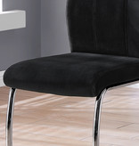 Monarch Lilly Chair, Black Velvet and Chrome