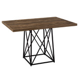 "Monarch Dining Table, 36""X 48"", Brown Reclaimed Wood-Look/Black"