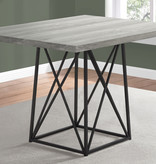 "Monarch Dining Table, 36""X 48"", Grey Reclaimed Wood-Look/Black"