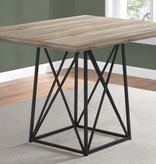 """Monarch Dining Table, 36""""X 48"""", Taupe Reclaimed Wood-Look/Black"""