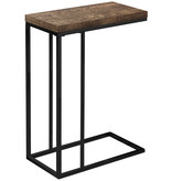 Monarch Accent Table, Brown reclaimed wood-look / black metal