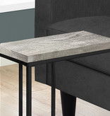 Monarch Accent Table, Grey reclaimed wood-look / black metal