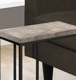Monarch Accent Table, Taupe reclaimed wood-look / black metal