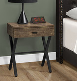 Monarch Accent Table with storage, Brown reclaimed wood-look / black metal