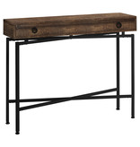 Monarch Console Table with storage, Brown reclaimed wood-look / black metal